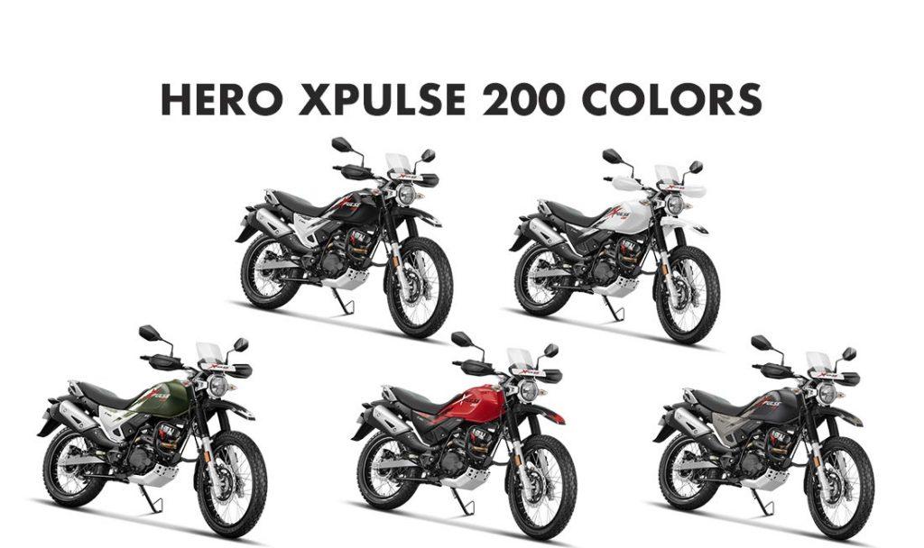 Hero XPulse 200 Colors - Hero XPulse 200 All Color Options - 2019 Hero XPulse 200 All Color options