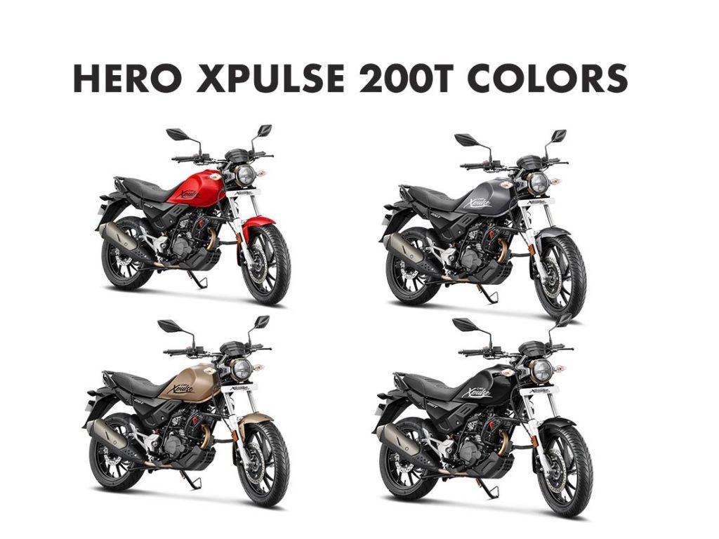 Hero XPulse 200T Colors - Hero XPulse 200T All Colors - New Xpulse 200T Colors and Options