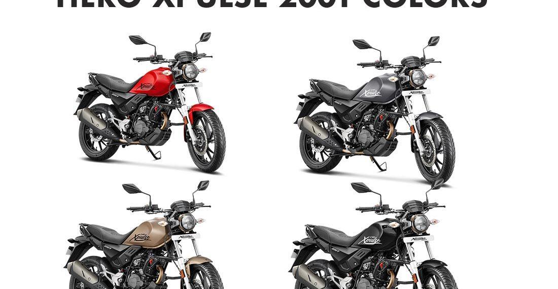 Hero XPulse 200T Colors: Golden, Black, Red, Grey