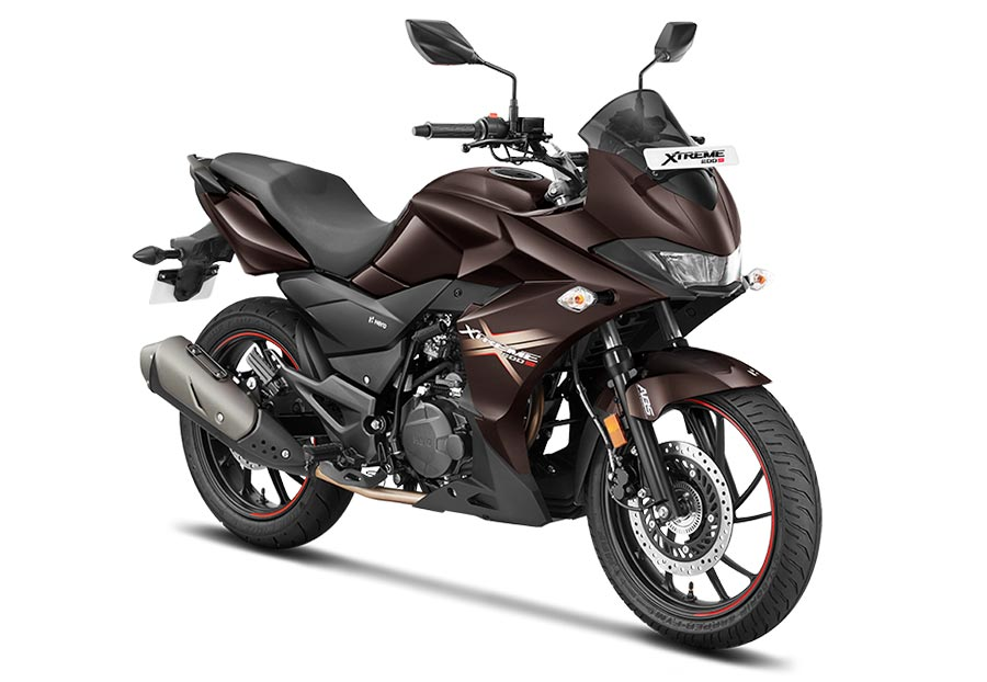 Hero Xtreme 200S Brown color. New Xtreme 200S motorcycle in Brown color variant.