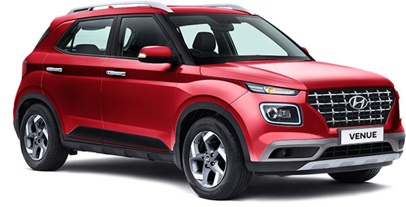 New 2020 Hyundai Venue Fiery Red Color - Hyundai Venue 2020 model in Red Color option - Fiery Red color 2020 Venue