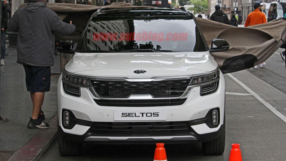 Kia Seltos Front View - Kia Seltos SUV - Kia Motors - Kia Seltos SUV - Kia SP2i - Kia Seltos White Colors