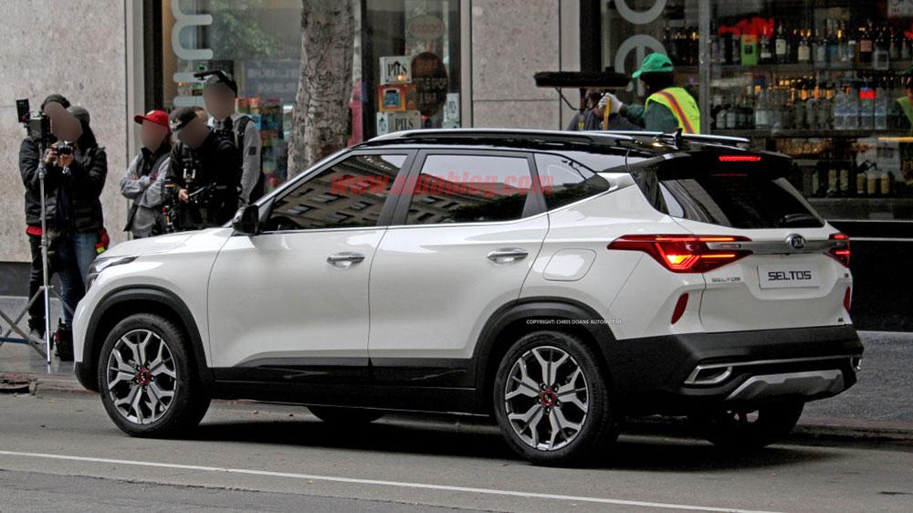 Kia Seltos Side View - 2019 Kia Seltos mid-size SUV based on Kia SP2i concept