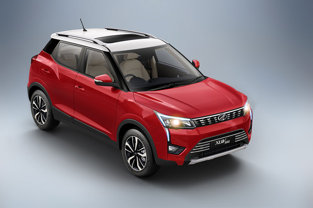 All New Mahindra XUV300 Red Tone Color Option