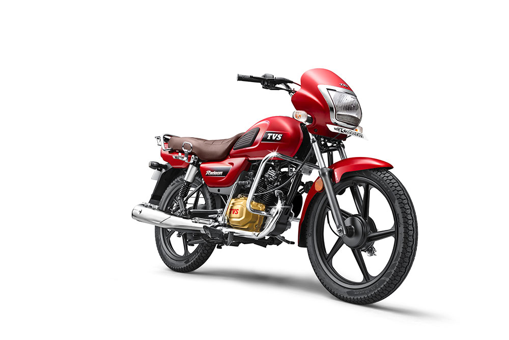 TVS Radeon Red Color - TVS Radeon Volcano Red Color