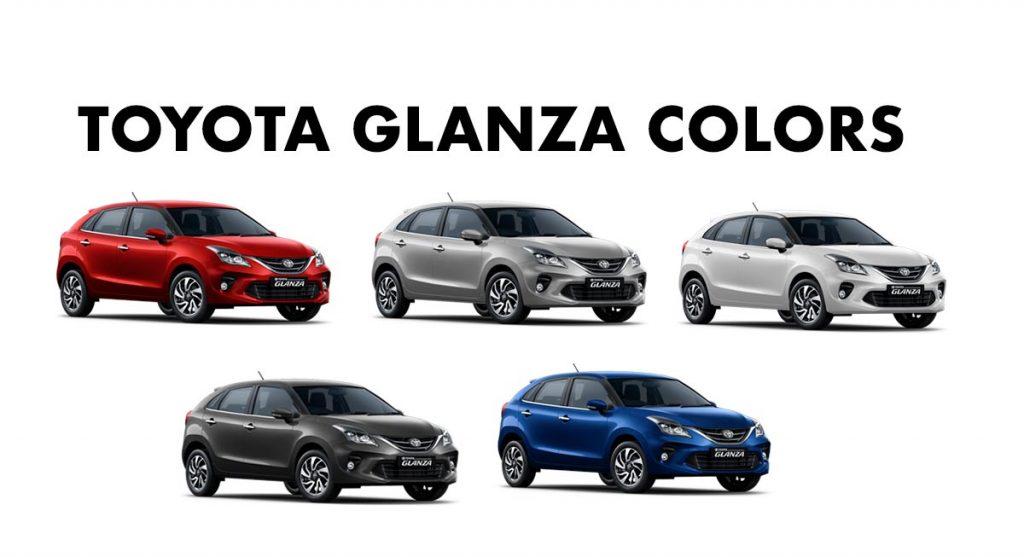 Toyota Glanza Colors - Toyota Glanza All Color Options - New Glanza Color details - Toyota Glanza All Colors