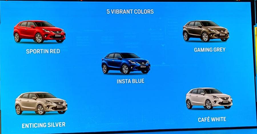 Toyota Glanza Colours - Toyota Glanza colors - New Toyota Glanza All Colors - New Glanza Color options