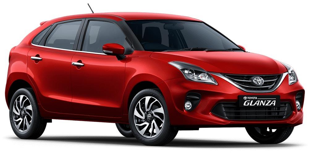 Toyota Glanza Red Color - New Toyota Glanza Sportin Red Colour