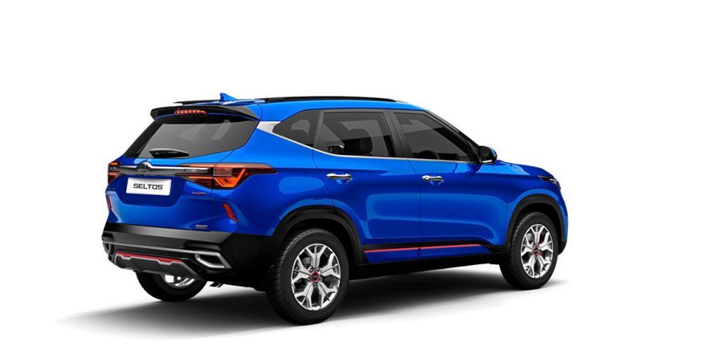 Kia Seltos Blue Color option. New Kia Seltos Intelligency Blue Color variant - Blue color Kia Seltos GT Line