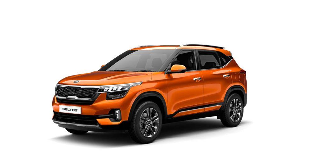 All New 2020 KIA SELTOS Orange Color option - Kia Seltos 2020 model Punchy Orange Color option - Orange 2020 Seltos Tech Line