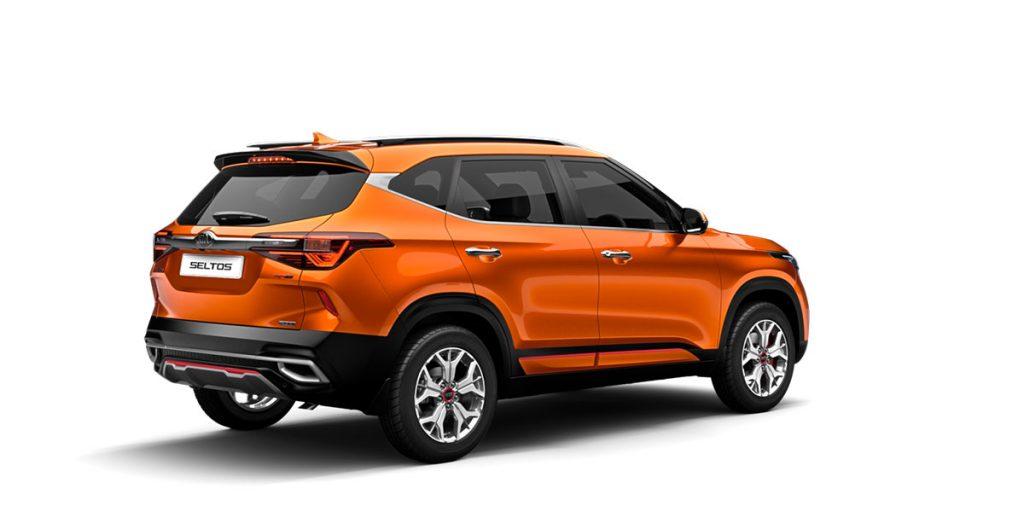 Kia Seltos Orange Color GT Line. New Kia Seltos SUV Punchy Orange color option in GT Line