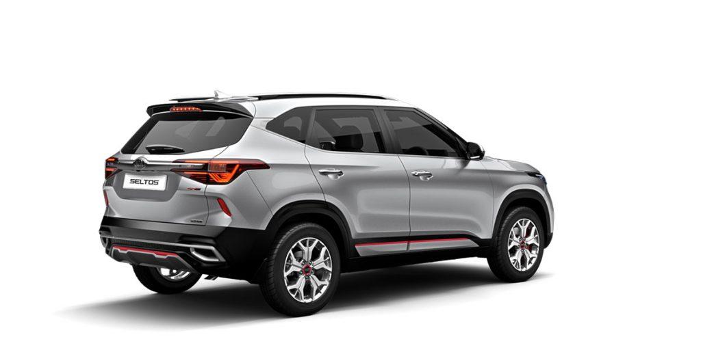 New 2020 Kia Seltos Silver Color GT line variant. All New Kia Seltos 2020 model Steel Silver Color Option GT Line. Steel Silver 2020 New Seltos by Kia