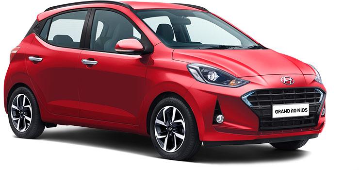 Hyundai Grand i10 NIOS Red Color- Grand i10 NIOS Fiery red color option