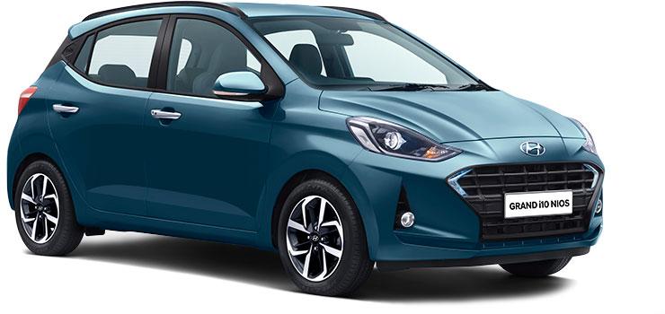 Hyundai Grand i10 NIOS Teal color variant