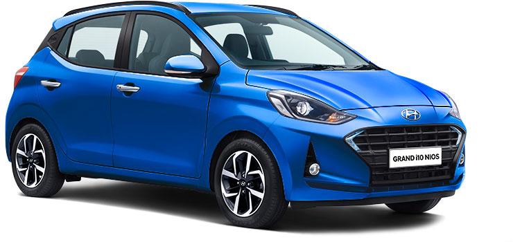 Hyundai Grand i10 NIOS Blue Color option Alpha Blue