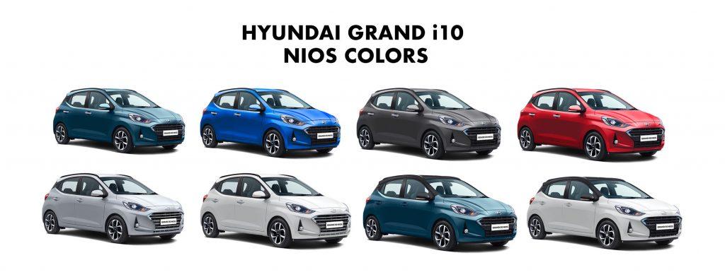Hyundai Grand i10 NIOS Colors - 2019 Grand i10 NIOS Color options