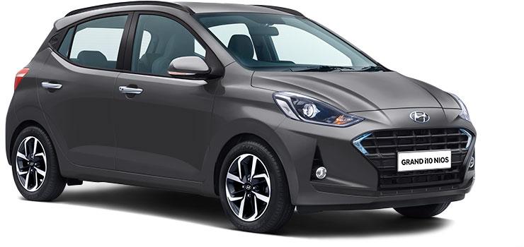 Hyundai Grand i10 NIOS Titan Gray Color. Grand i10 NIOS Grey Color