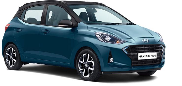 Hyundai Grand i10 Nios Aqua Teal Dual-tone color option