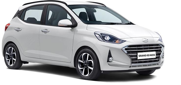 Hyundai Grand i10 NIOS Polar White Color option