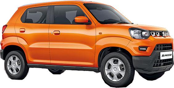 Maruti SPresso Orange Color