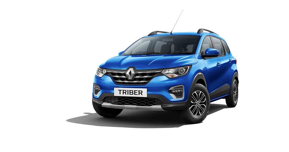 Renault Triber Blue Color - Renaulr Triber Electric Blue color option