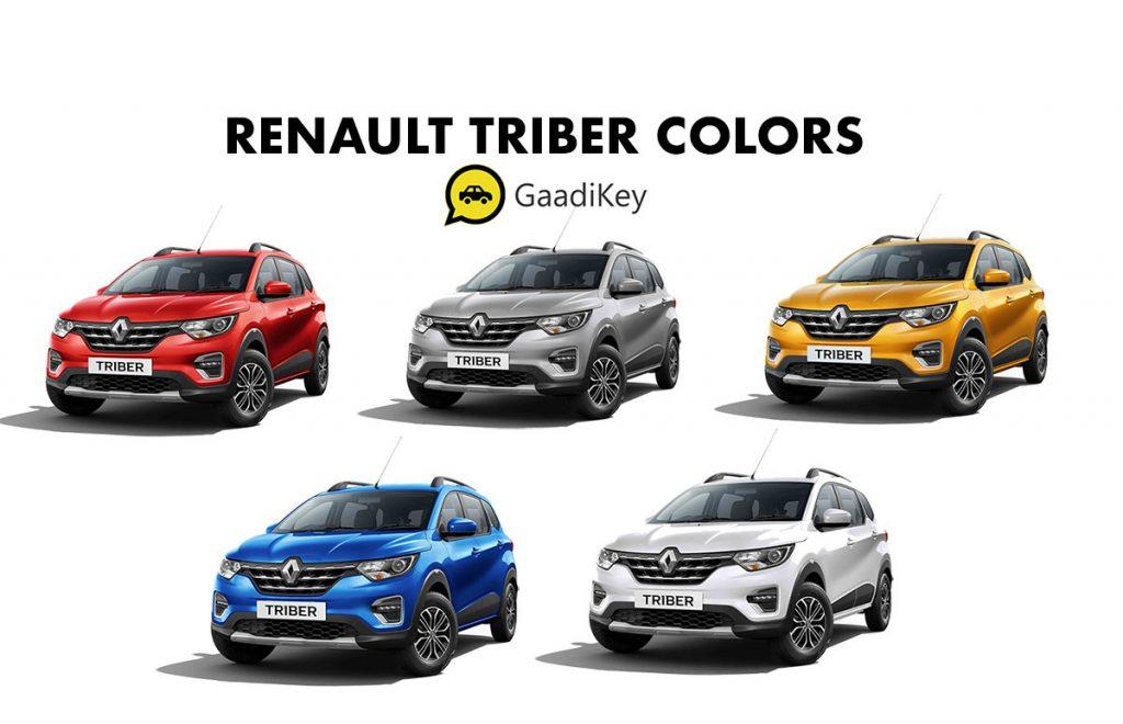 Renault Triber Colors - Renault Triber all color options