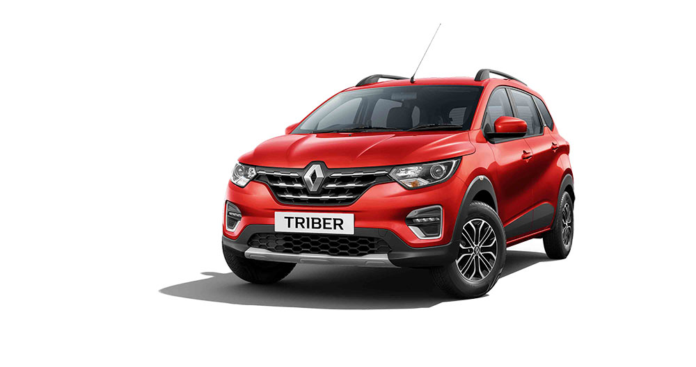 2020 Renault Triber Red Color - Fiery Red Color variant. Renault Triber 2020 model red color