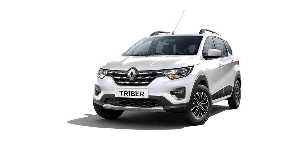 2020 Renault Triber White Color - Ice cool White color option. New Renault Triber 2020 model White color