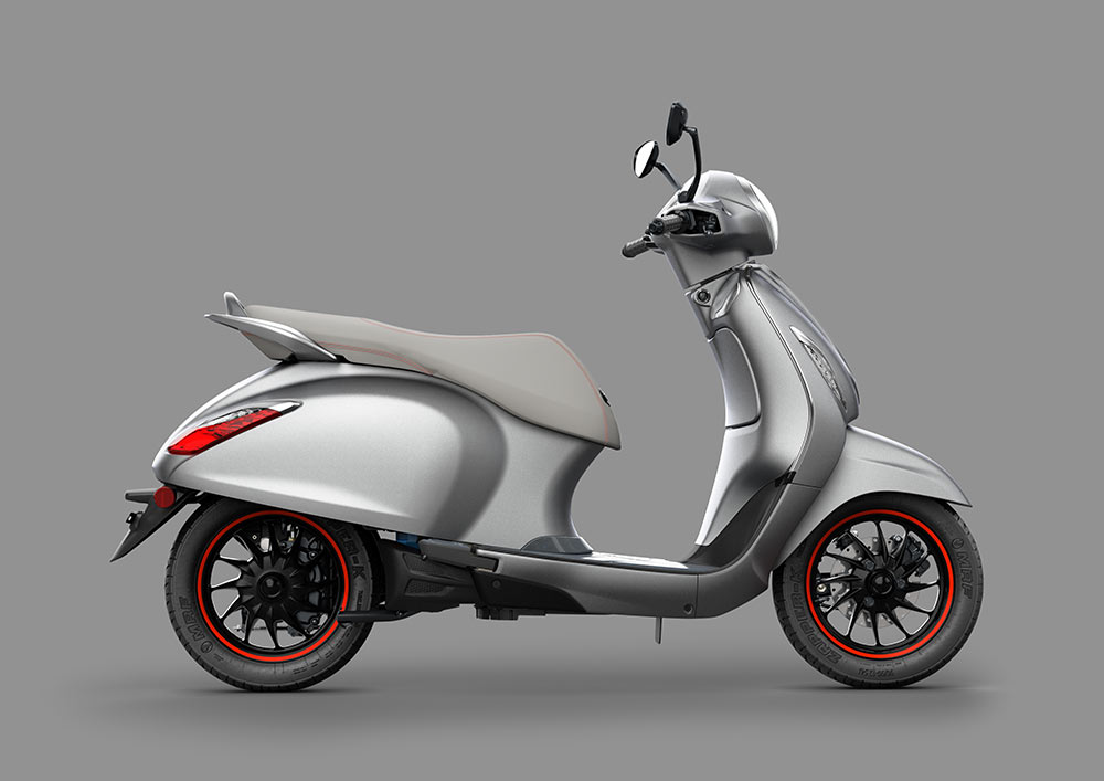 Bajaj Chetak Electric Scooter - Chetak Silver Color