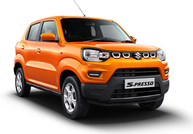 Maruti SPresso Solid Sizzle Orange Color - New S Presso Orange
