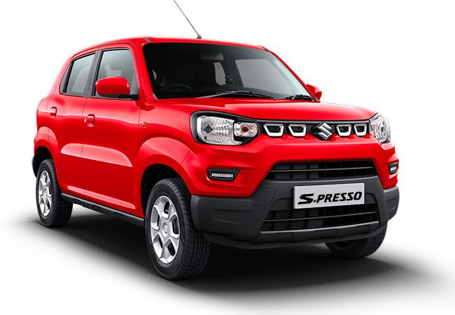 New Maruti S Presso Solid Fire Red Color - SPresso Fire Red Color Option