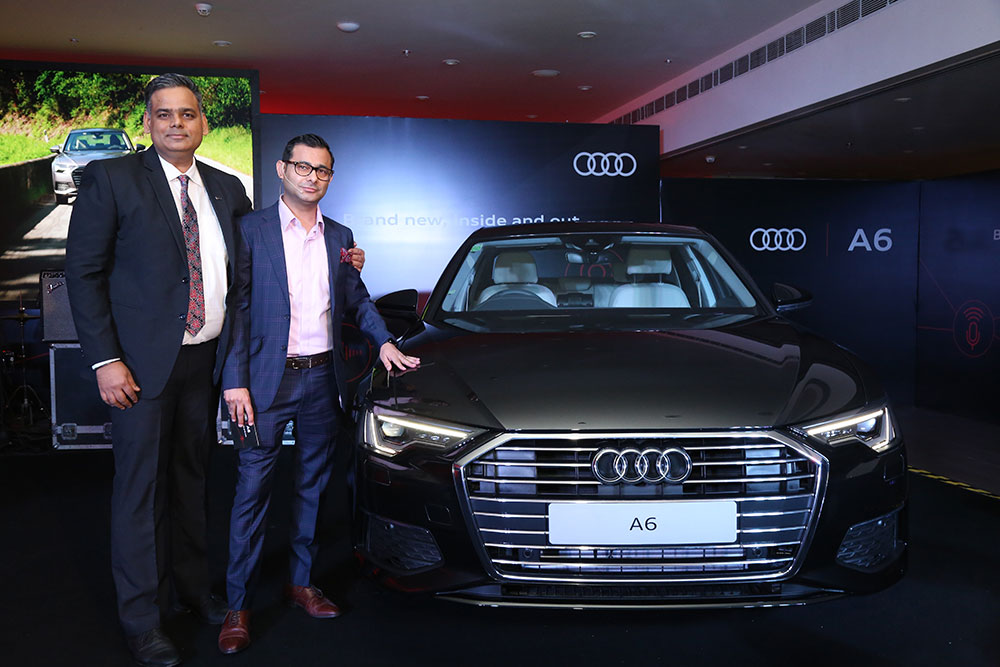 New Audi A6 launch in Audi Gurugram showroom, India.