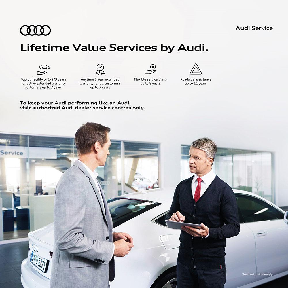Audi Lifetime value services