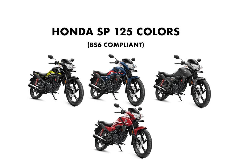 Honda Sp125 Colors Bs6 Grey Red Blue Green Gaadikey