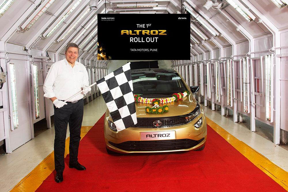 Tata Altroz Roll out - Tata Altroz roll out Pune.