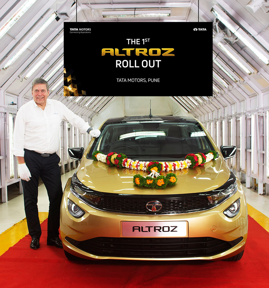 Tata Altroz premium hatchback roll out from Pune plant