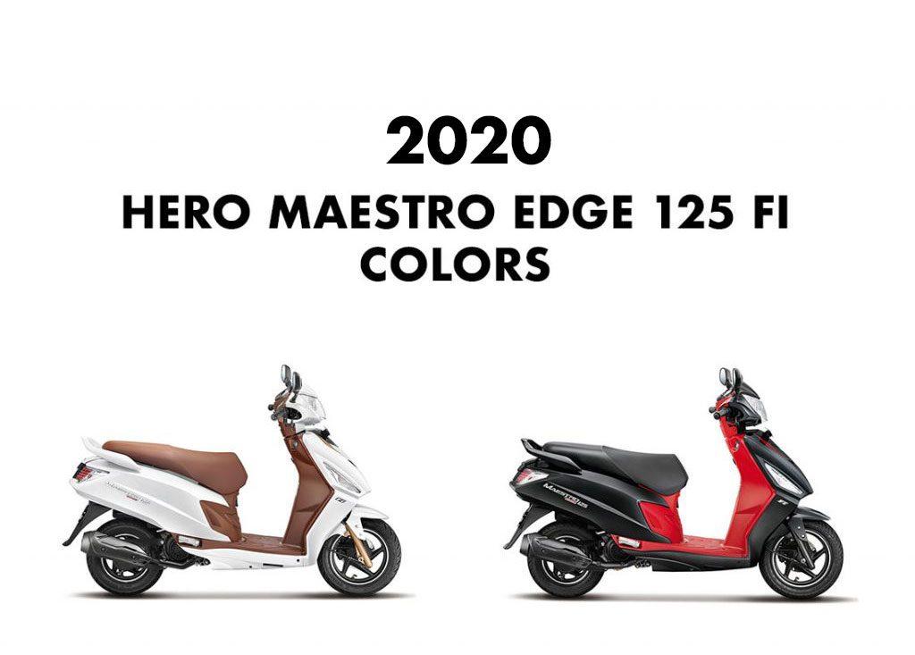 2020 Hero Maestro Edge 125 Colors - All Color options Hero Maestro Edge 125cc