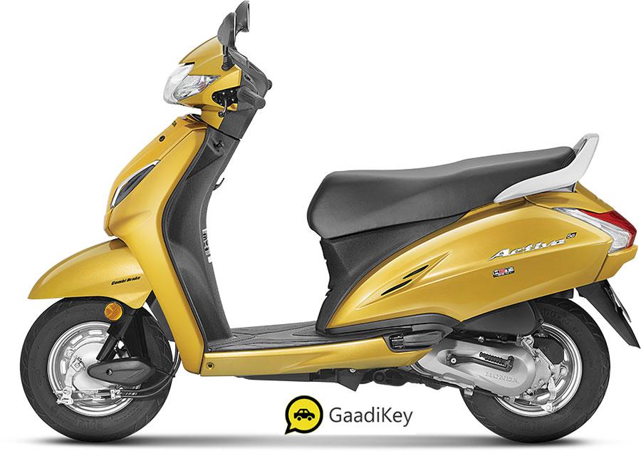2020 Honda Activa 5G Yellow Color - Dazzle Yellow color Activa 5G