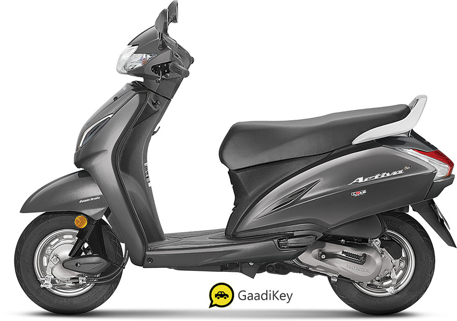 2020 Honda Activa 5G Axis Grey color option. New 2020 Activa 5G Grey color (Axis Grey)