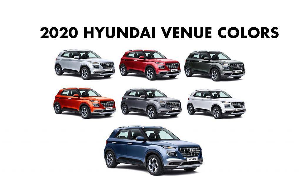 2020 Venue Colors - 2020 Hyundai Venue Colours - New 2020 Hyundai Venue All Colors - Hyundai Venue 2020 model all colors