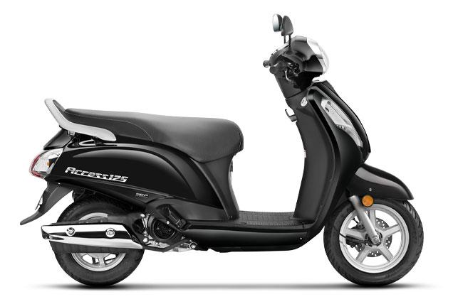 2020 Suzuki Access 125 Glass Sparkle Black Color option. New Access 125 2020 Model Black colour variant