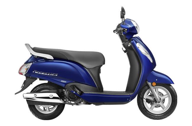 2020 Suzuki Access 125 in Pearl Suzuki Deep Blue color 2. YBA