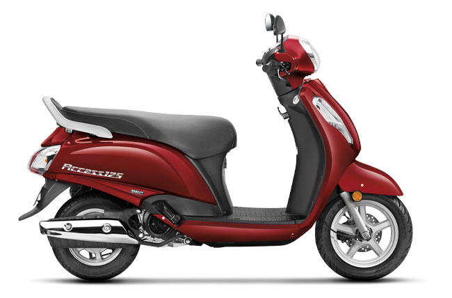 2020 Suzuki Access 125 Candy Sonoma Red Color variant. New Access 125 2020 Model Red Colour