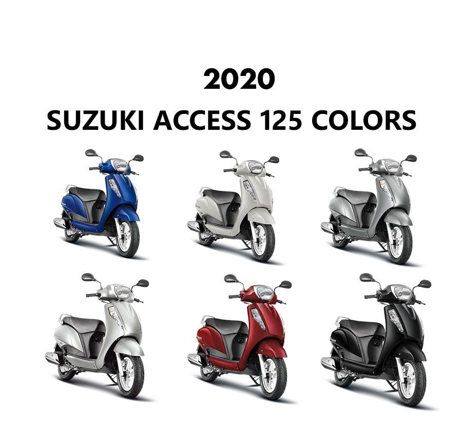 2020 Suzuki Access 125 Colors - Access 125 2020 Model Colors -