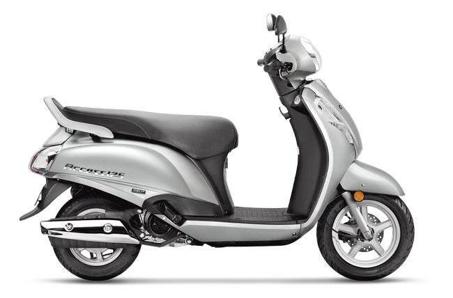 2020 Suzuki Access 125 Sonic Silver Color option. New Access 125 Silver colour - 2020 Access Silver colour variant.