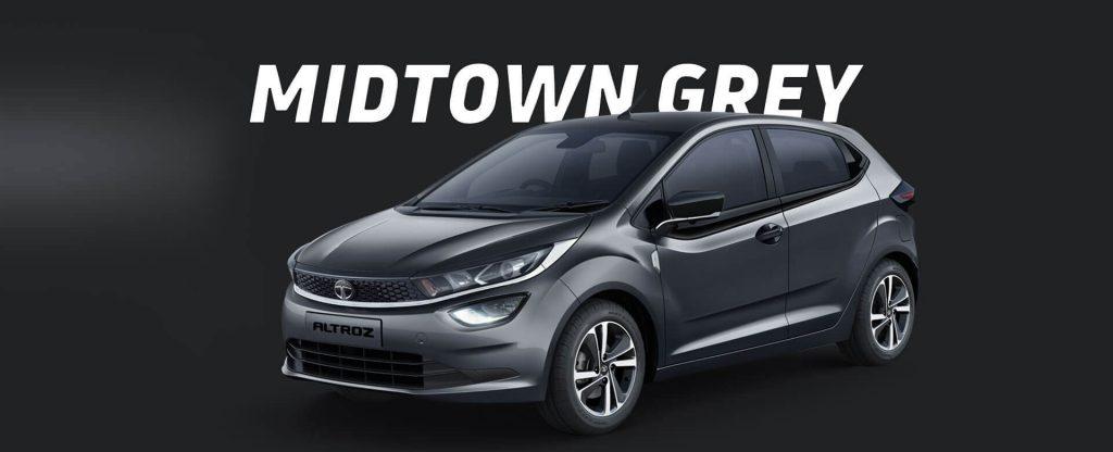 Tata Altroz in Grey Color option.  Tata Altroz Midtown Grey colour option