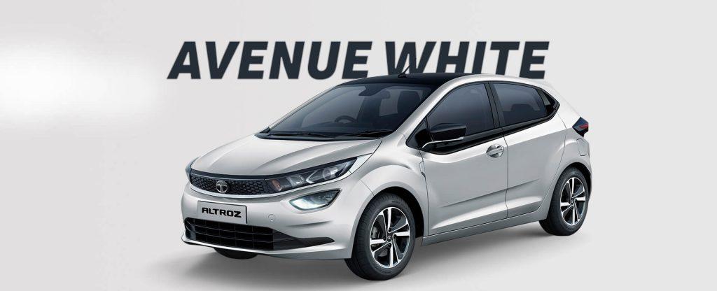 Tata Altroz in White color. New Tata Altroz Avenue White Colour