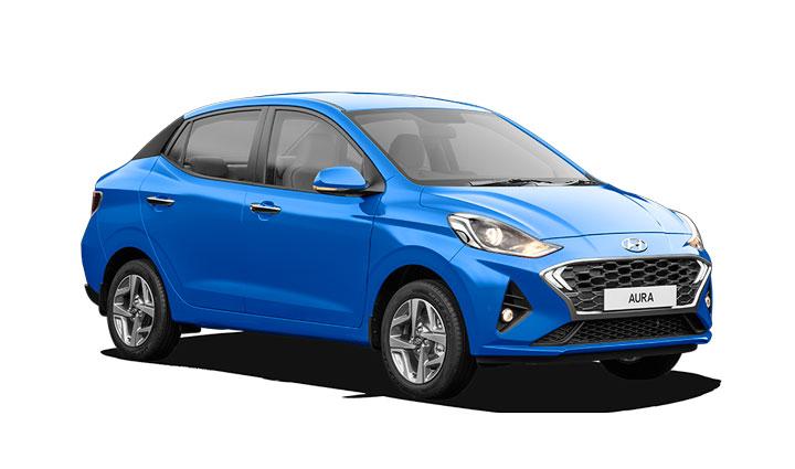Hyundai Aura Blue Color - Hyundai Aura Alpha Blue color option