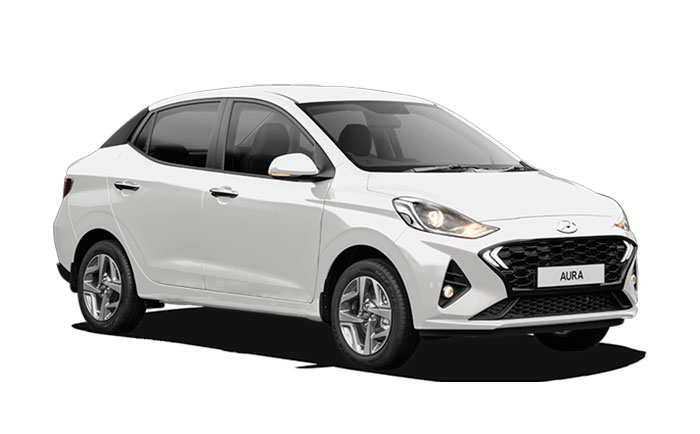 Hyundai Aura White Color Polar whITE COLOR