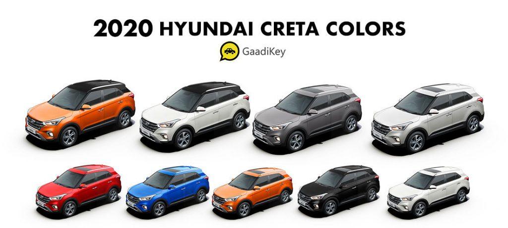 Hyundai Creta 2020 model all colors - 2020 Hyundai Creta new model colors, creta 2020 all colors. creta new model 2020 colours,